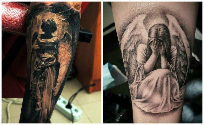 Tatuajes de ángeles bebés