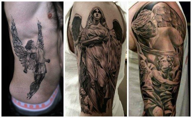 Tatuajes de ángeles en el brazo