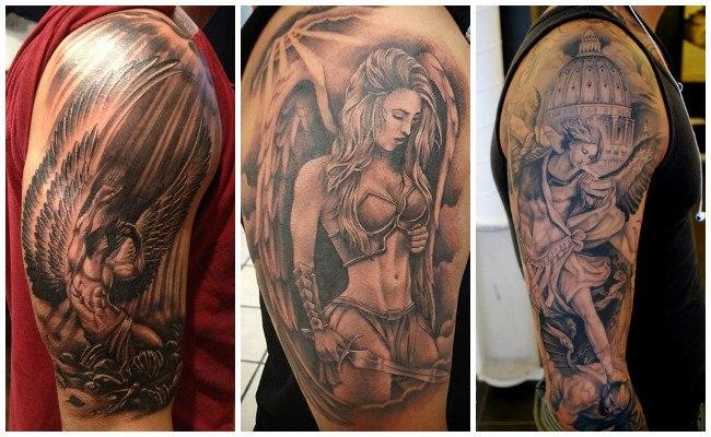 Tatuajes de ángeles a color