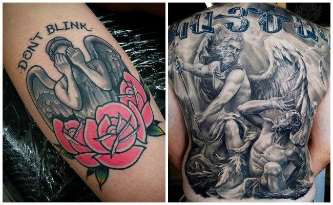 Tatuajes de ángeles en el cuello