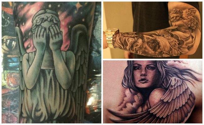 Tatuajes de ángeles diabólicos