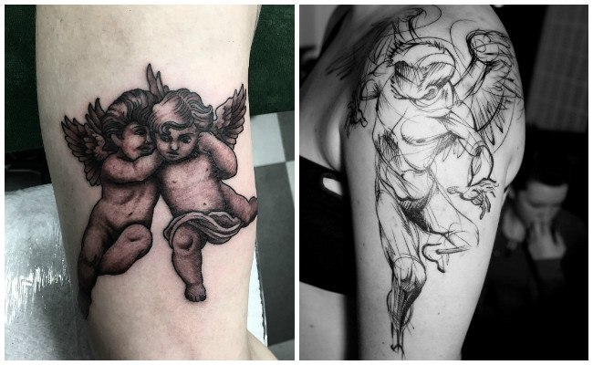 Tatuajes de ángeles de hombres