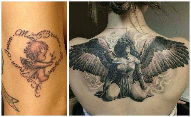 Tatuajes de ángeles en las muñecas