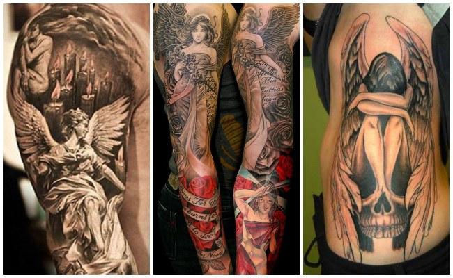 Tatuajes de ángeles para hombre