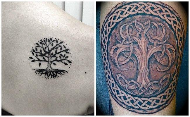 Tatuajes de árbol de la vida en la espalda