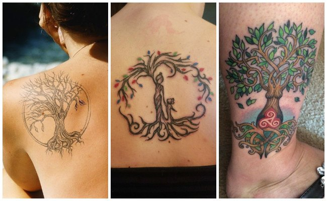 Tatuajes de árbol de la vida en la mano