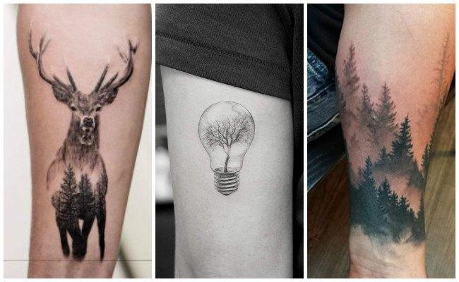 Tatuajes de árboles en la espalda