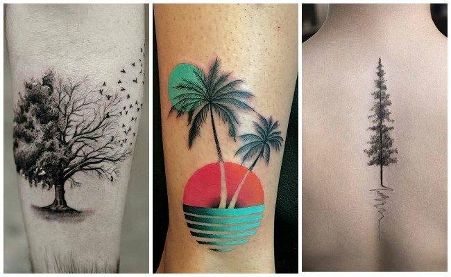 Tatuajes de árboles para mujer