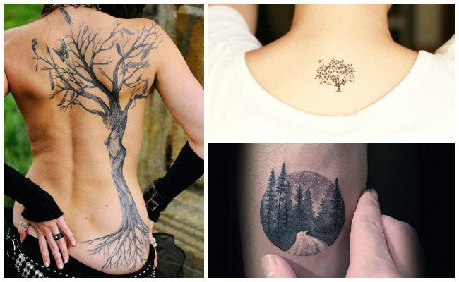 Tatuajes de árboles pequeños