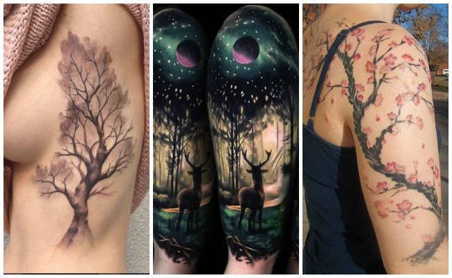 Tatuajes De árboles Y Tatuajes De Bosques Diseños Y Significados