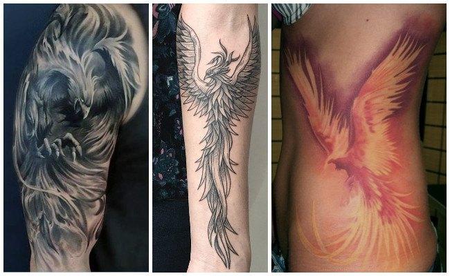 Tatuajes de ave fénix en el brazo