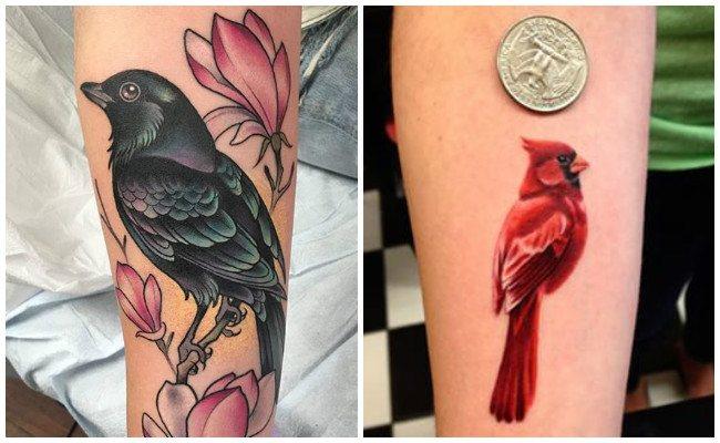 Tatuajes de aves en ramas