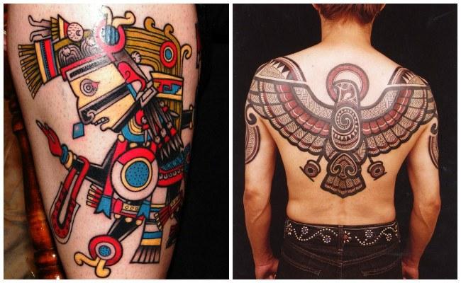 Tatuajes de aztecas en el brazo