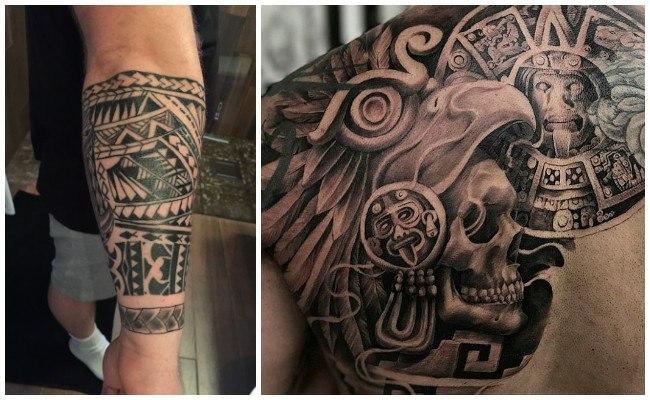 Tatuajes de aztecas y mayas