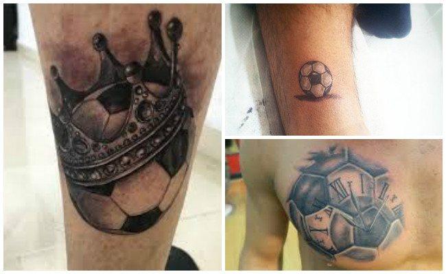 Tatuajes de balones de fútbol