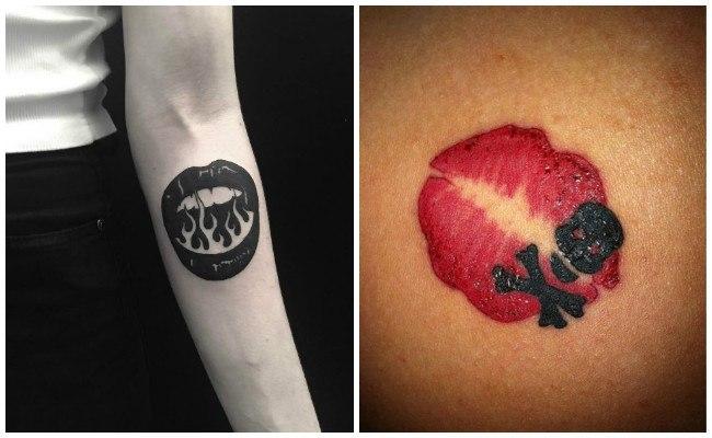 Tatuajes de besos rojos significados