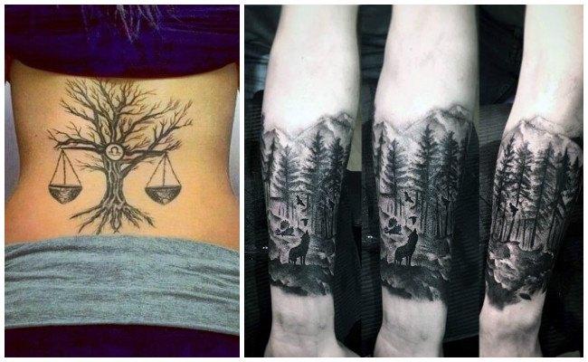 Tatuajes de bosques en la muñeca