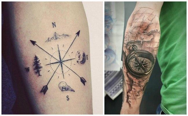 Tatuajes de brújulas en 3d
