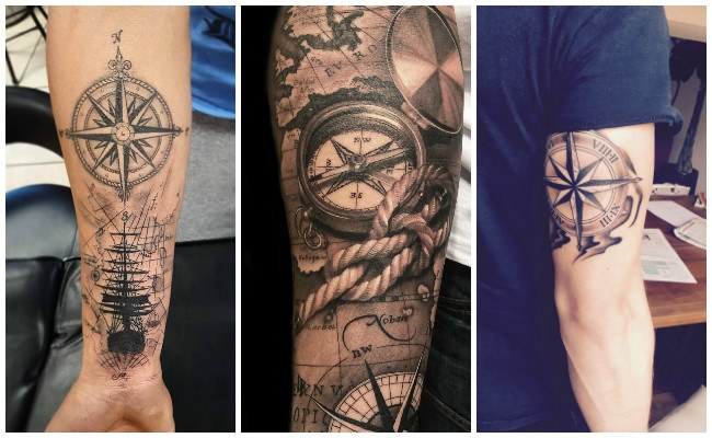 Tatuajes de brújulas para mujeres