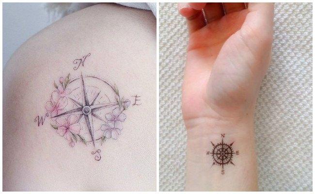 Tatuajes de brújulas para parejas