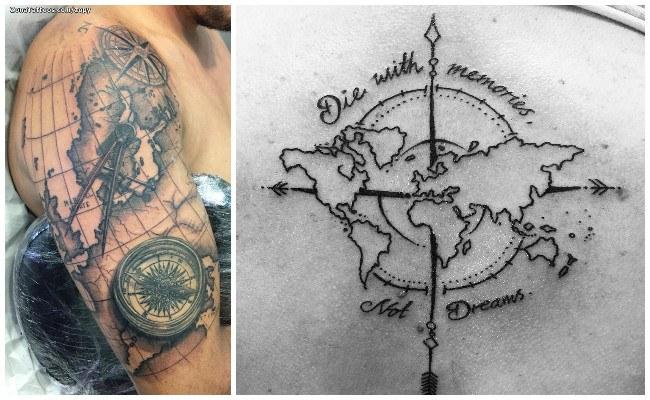 Tatuajes de brújulas y significado