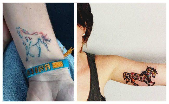 Tatuajes de caballos en el brazo