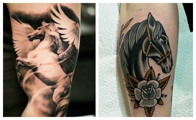 Tatuajes de caballos con alas
