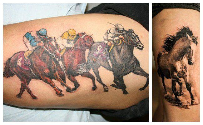 Tatuajes de caballos corriendo