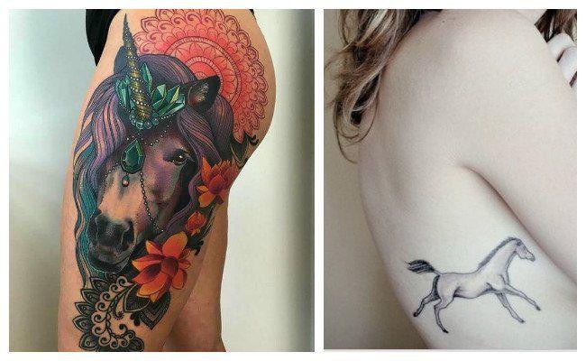 Tatuajes de caballos en la espalda