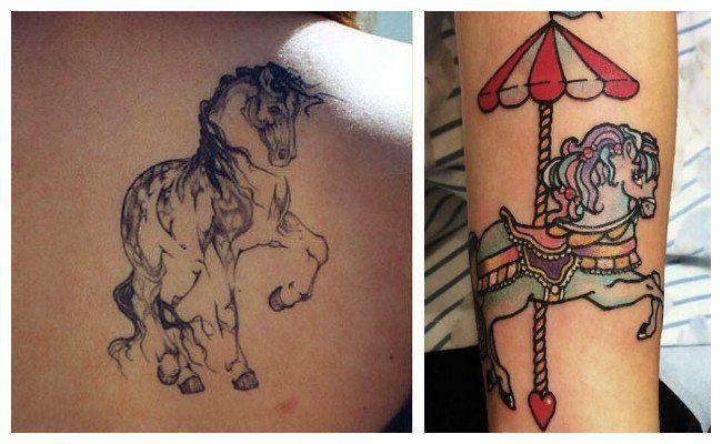 Tatuajes de caballos galopando