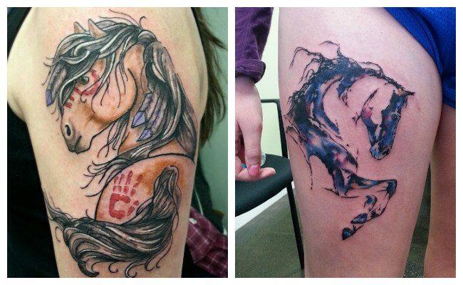 Tatuajes de caballos indios