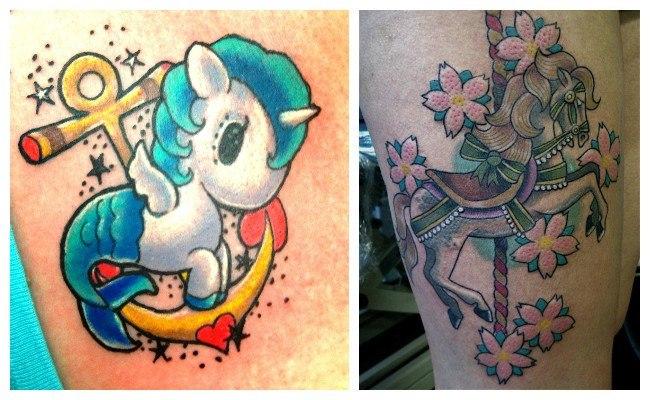 Tatuajes de caballos para mujeres