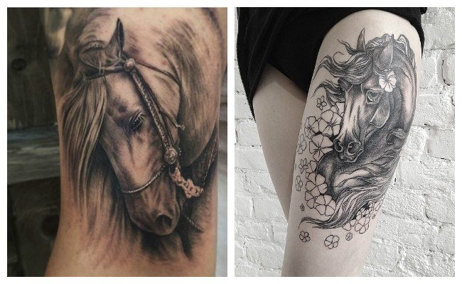 Tatuajes de caballos realistas