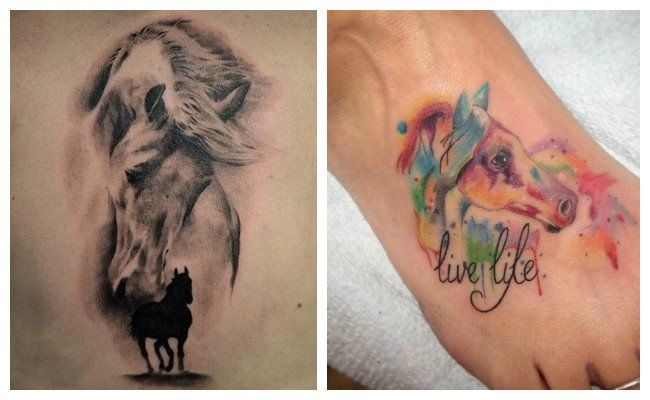 Tatuajes de caballos salvajes
