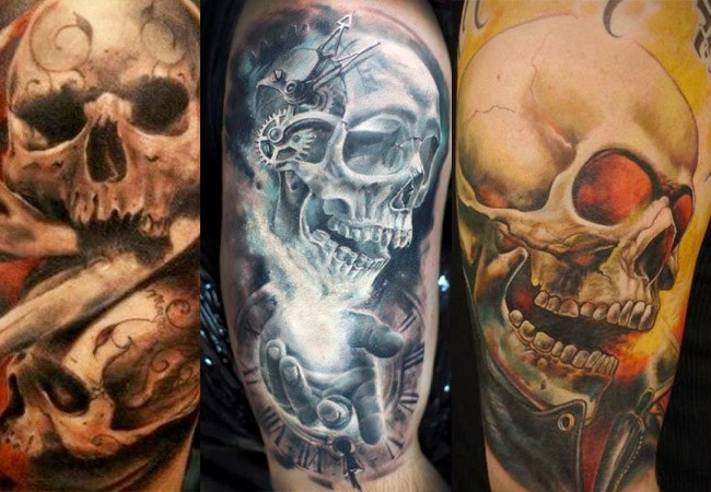Tatuajes de calaveras a color