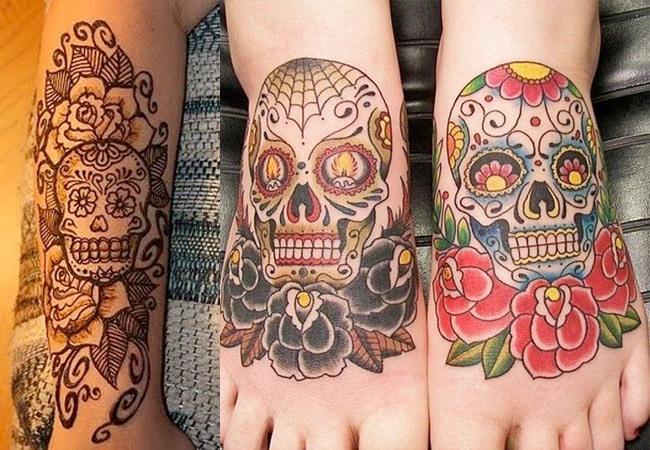 Tatuajes de calaveras de azúcar