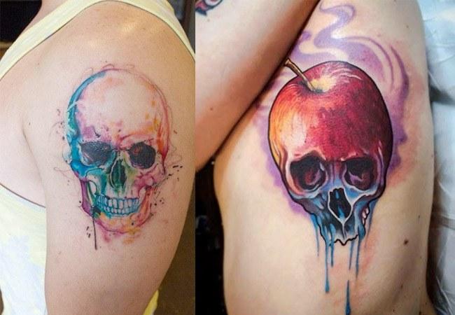 Tatuajes de calaveras de colores