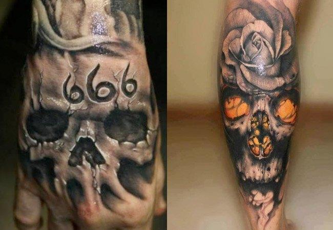 Tatuajes de calaveras diabólicas