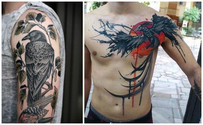 Tatuajes de calaveras y cuervos