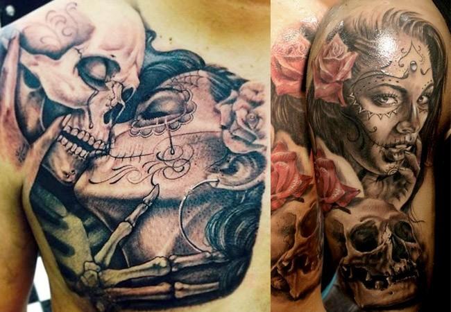 Tatuajes de catrinas mexicanas
