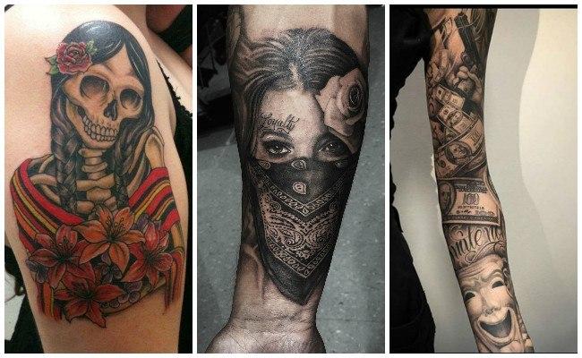 Tatuajes de catrinas con rosas