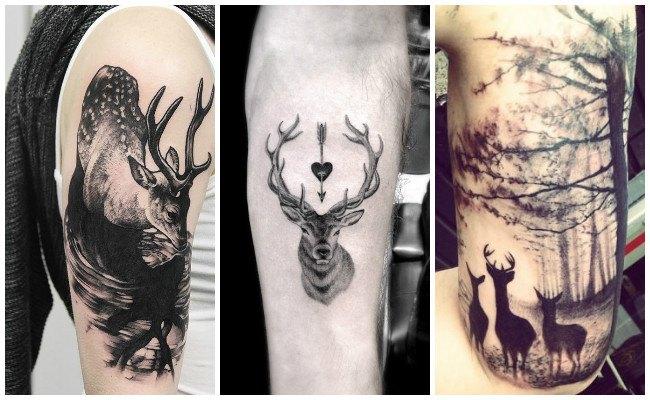 Tatuajes de ciervos en el brazo