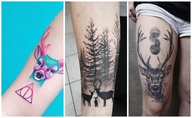 Tatuajes de cráneo de ciervo
