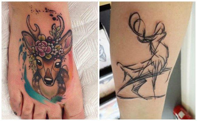 Tatuajes de ciervos geométricos