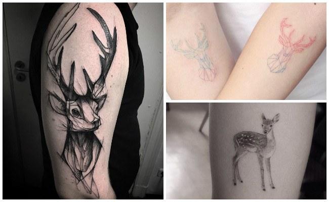 Tatuajes de ciervos para hombres