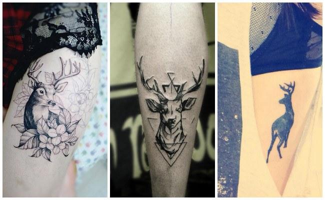 Tatuajes de ciervos para mujeres