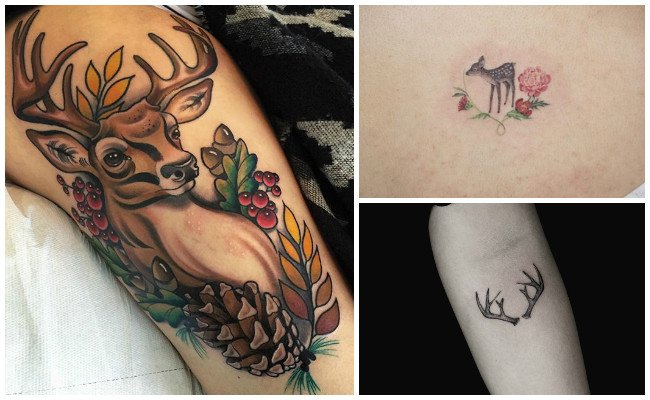 Tatuajes de ciervos para parejas