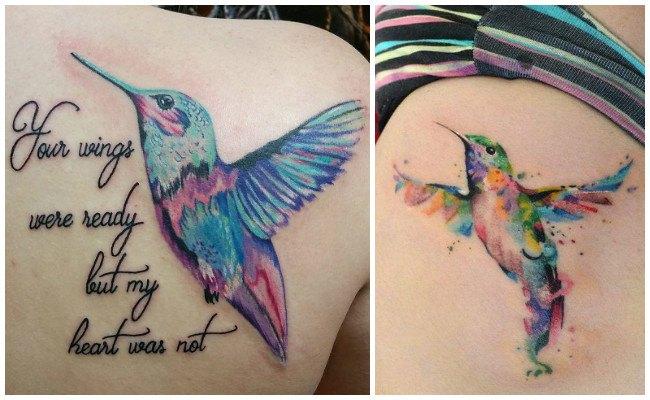 Tatuajes de colibríes para hombres