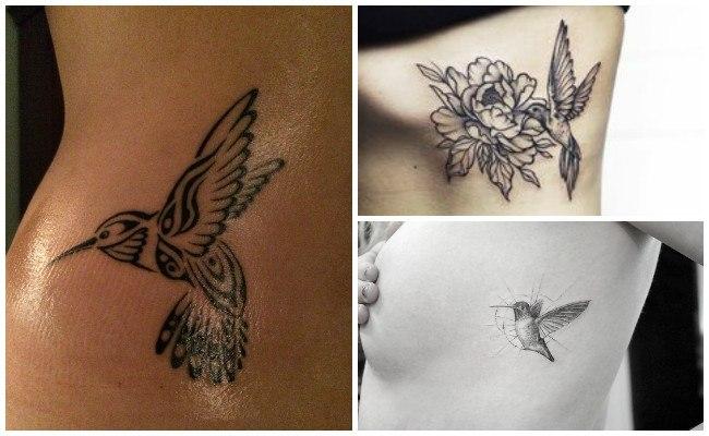Tatuajes de colibríes para mujeres