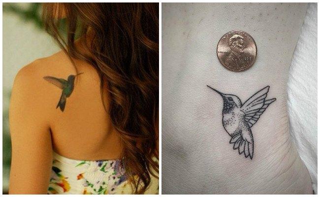 Tatuajes de colibríes en fotos